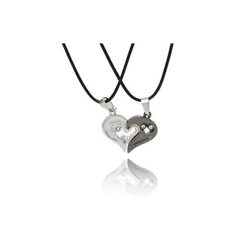 7da3b9029 Ezüst ezüst Férfi nők pár szerelmesek szeretlek szív alakú ...