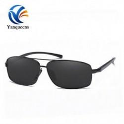 Fekete keret   szürke lencse Új napszemüveg polarizált szemüveg férfi szabadtéri sport vezetési halászati szemüveg
