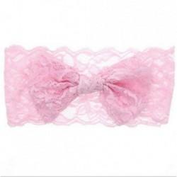 Rózsaszín 7PCS baba gyerekek lányok kisgyermek csipke íj hajpánt Stretch csomó fej sáv fejpánt