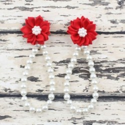 Piros Nyári csecsemő gyerekek baba lány virág gyöngy mezítláb gyűrű szandál láb karkötő