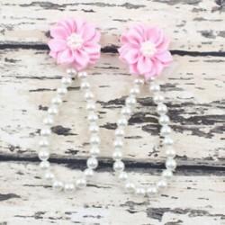 Rózsaszín Nyári csecsemő gyerekek baba lány egyedül kiságy mezítláb gyűrű gyöngy virág cipő szandál