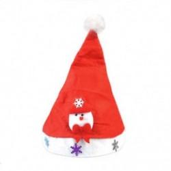 Hóember felnőtteknek LED karácsonyi kalap Mikulás rénszarvas hóember sapka karácsonyi dekoráció gyerekek ajándék