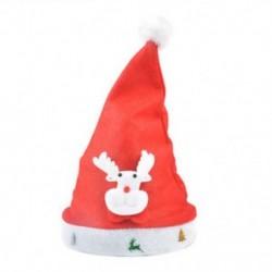 Rénszarvas felnőtteknek LED karácsonyi kalap Mikulás rénszarvas hóember sapka karácsonyi dekoráció gyerekek ajándék
