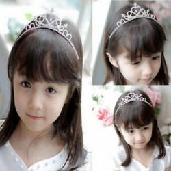 Lányok strasszos kristály Tiara haj zenekar gyerek menyasszonyi hercegnő Prom korona fejpánt