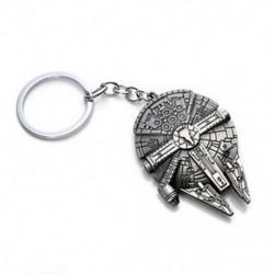 Millennium Falcon Divat ezüst csillag háborúk Millenium Falcon csillagromboló fém kulcstartó kulcstartó