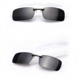 Fekete szürke Polarizált napszemüveg Flip-up klip vezetési szemüvegek napja éjszakai látás lencse UV400