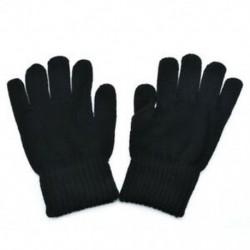 Fekete Férfi téli melegen kötött kesztyűk Divatos csípős gyapjú kesztyű ujjatlan ajándék