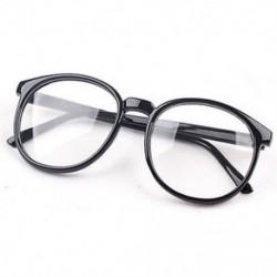 Fekete Divat Unisex férfi Retro kerek keret Vintage női szemüveg Nerd szemüveg ajándék