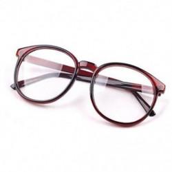 Barna Divat Unisex férfi Retro kerek keret Vintage női szemüveg Nerd szemüveg ajándék