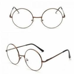 Bronz Retro nagy kerek szemüveg tiszta lencse arany keret napszemüveg majom szemüveg