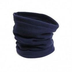 Sötétkék 3 in 1 SNOOD Fleece sál Hood Balaclava nyak téli melegítő arcmaszk Beanie kalap