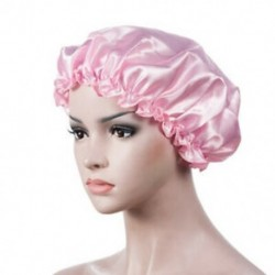 Rózsaszín Elasztikus selyem éjszaka alvó sapka hajháztető fejfedő szatén széles beállítású zenekar kalap