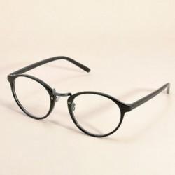 Fekete Vintage tiszta lencse szemüveg keret retro kerek férfi női unisex majom szemüveg