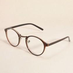 Homokszínű Vintage Unisex világos kerek lencse keret szemüvegek férfiak nők retro majom szemüveg