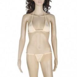 Bőrszín Szexi női fehérnemű Micro Thong fehérnemű G-String Bra Mini Bikini fürdőruha