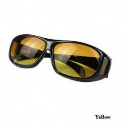 Sárga HD Unisex férfiak nők éjszakai látása napszemüvegek átfutása a szemüveg körül Új