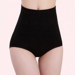 Fekete Női magas derék rövidnadrág Shapewear nadrágos Body Shaper vezérlés Slim hasi fehérnemű