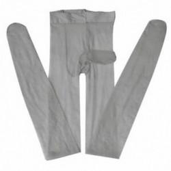 szürke Szexi férfi első nyitott szoros harisnya Stretch ujjú köpeny harisnya fehérnemű