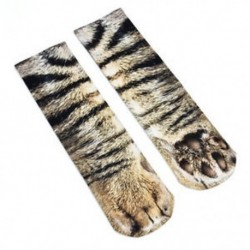 Macska Női férfiak Állati mancs Crew Zokni Divat Unisex pamut zokni Nyomtatott Vicces zokni
