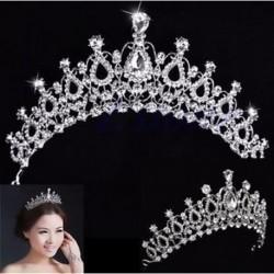 Strasszos Tiara haj zenekar lány menyasszonyi esküvői hercegnő Prom korona fejpánt ajándék