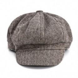 3 * Férfi gyapjú halszálkás Tweed Gatsby hírkötő sapka Ivy kalap golf vezetés lapos Cabbie