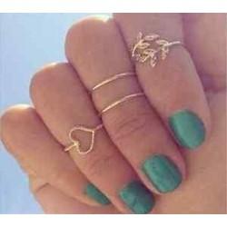 2 * 4PCS Boho Women Stack Plain A Knuckle Ring feletti Midi Finger Tip gyűrűk beállítása Ékszer Ajándék
