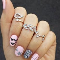 9 * 3PCS Boho Women Stack Plain A Knuckle Ring feletti Midi Finger Tip gyűrűk beállítása Ékszer Ajándék