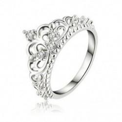 9 Divat női hercegnő királynő korona esküvői gyűrű ezüstözött kristály gyűrű ajándék