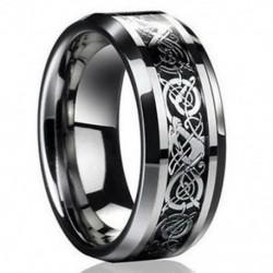 9. méret 2016 új ezüst kelta sárkány titán rozsdamentes acél férfi esküvői zenekar gyűrűk