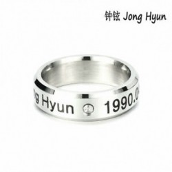 Jong Hyun KPOP STAINLESS STEEL SHINEE ON MIN MIN TAEMIN KEY JONG HYUN KPOP RING JEWELRY
