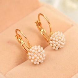 Koreai nők gyöngy gyöngyök fül fülbevaló divat esküvői fél ékszer ajándék