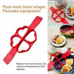 Négy adagos szív alakú szilikon palacsinta forma - tükörtojás forma - sütőforma - I3L9