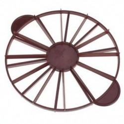 Vörösesbarna színű - 27cm-es 12 szeletes sütőforma - műanyag forma pitéhez - tortához - süteményekhez