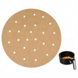 100 db fehérítetlen levegős sütőberendezés, 22,8 cm-es bambusz gőzölgő bélés, szilikon vagy N6E6