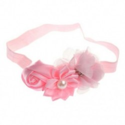 1X (kislány fejpánt csecsemő sifon fejpánt, műfürt hajpánt (rózsaszín) C8M8)