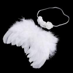 Baba újszülött fotózás jelmez angyal szárnyak fényképezés utáni angyal toll L6V9