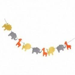 Aranyos filccsalád koszorú oroszlán elefánt zsiráf dekoráció a gyermek R4C7-hez