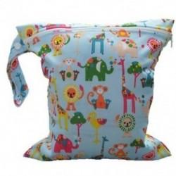 1X (Baby csecsemő vízálló cipzárral újrahasznosítható vászonpelenka táska (Multi Animal Pa U1L8