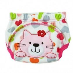 Rétegtanuló bugyi mosható pamut vízálló macska mintából a p N8M7 baba számára