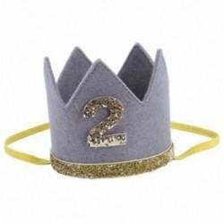 2X (Baby Boy Girl első születésnapi kalapkorona számok Fejpánt Tiara Party Phot V1S3