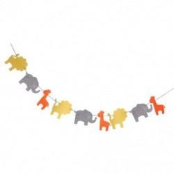 2X (Aranyos filc szalagfüzér oroszlán elefánt zsiráf dekoráció a gyermeknek L1T3