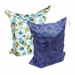 Baba 2db vászonpelenka nedves táskák, nedves és száraz vászonpelenka táskák C7I1