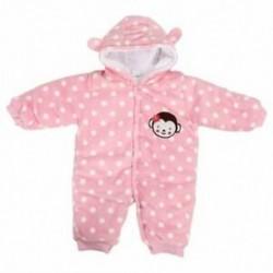 Rózsaszín - 1X (Baby Toddler pamut hosszú ujjú felsőkocsi elülső gomb J3Y9)