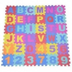 36db puha EVA habbébi gyerek játszik Mat Mat ábécé szám puzzle Jigsaw E3R8 játékkal