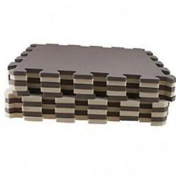 Barna - 10 darabos Eva hab puzzle edzőszőnyeg Reteszelő padlólapok barna   bézs színű @ U8P5