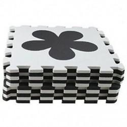 Fekete-fehér - 10 darabos Eva hab puzzle edzőszőnyeg Reteszelő padlólapok barna   bézs színű @ U8P5