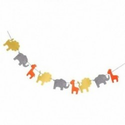 5X (aranyos filc szalagfüzér oroszlán elefánt zsiráf dekoráció a gyermeknek U6A3