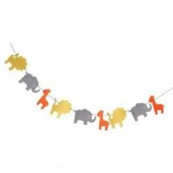 6X (Aranyos filccsalád koszorú oroszlán elefánt zsiráf díszítés a gyermeknek Q6D4