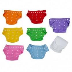 7x újrafelhasználható, állítható mosható baba pelenka, egy méret  7 betétek Q8I4