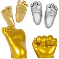 2X (3D kéz- és lábnyomó forma babapor-gipszöntvény-készlethez, kéznyomat G1R3